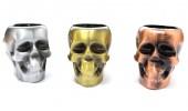 Трубка для курения череп металл