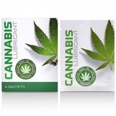 Водный лубрикант Cobeco Cannabis Lube Sachets (6штx4ml)